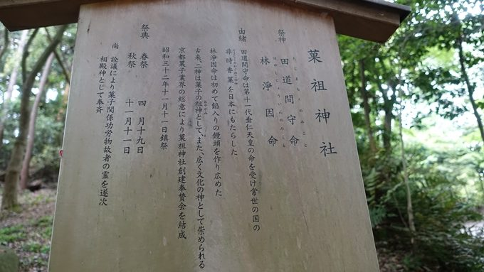 菓祖神社 駒札
