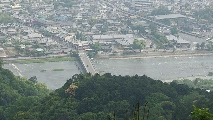 嵐山城跡 渡月橋