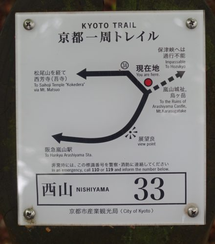 嵐山城跡 標識