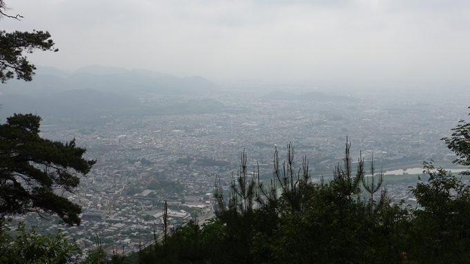 嵐山城跡 景色