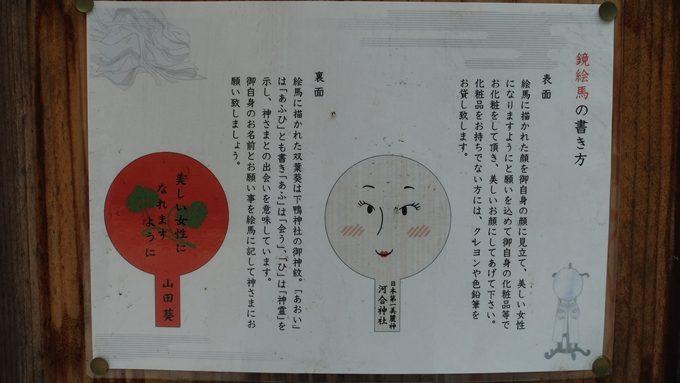河合神社 鏡絵馬No3