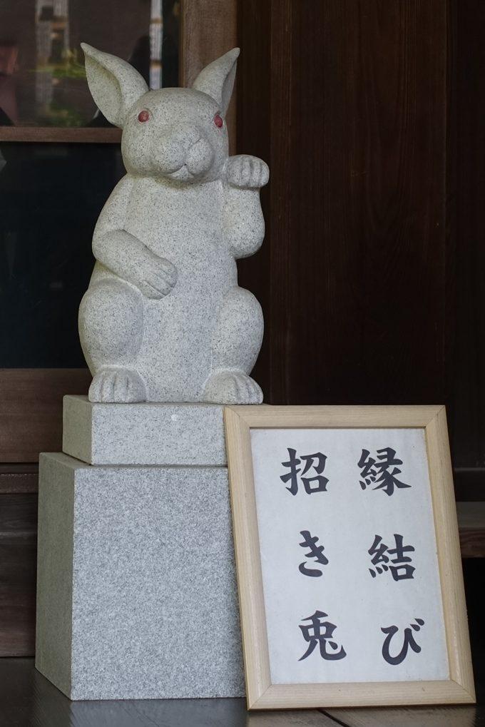 岡崎神社 招きうさぎNo1