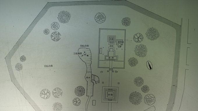 蚕ノ社 境内案内図