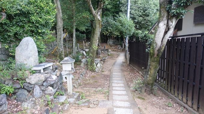竹中稲荷神社 裏道