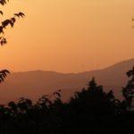 吉田山公園 夕陽を見に行った
