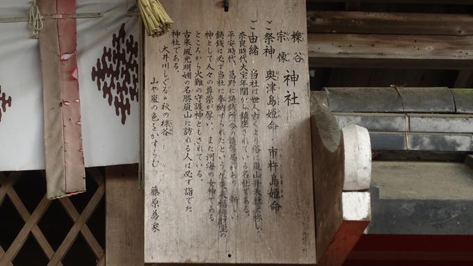 櫟谷宗像神社 駒札