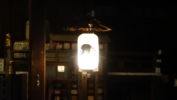 岡崎神社夜景 提灯No3