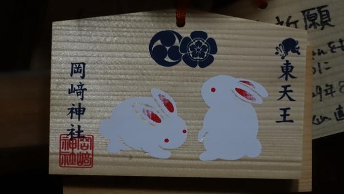 岡崎神社夜景 絵馬No2