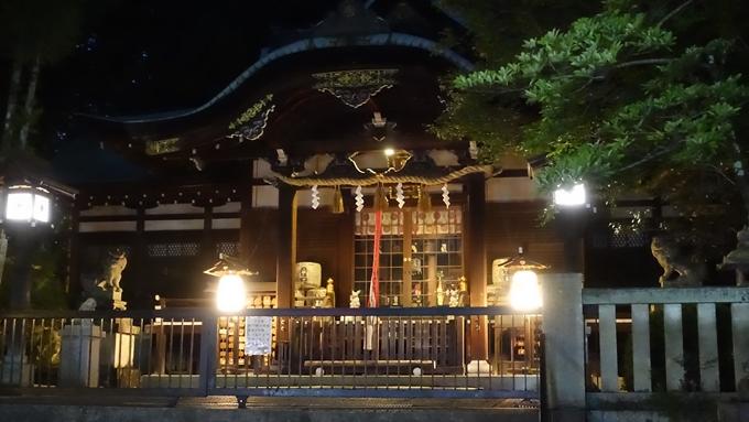 岡崎神社夜景 本殿No5