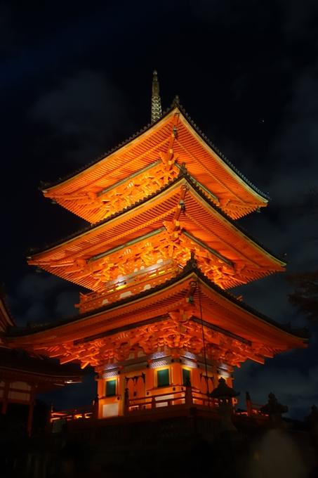 京都紅葉速報2018 その24 清水寺_ライトアップ No11