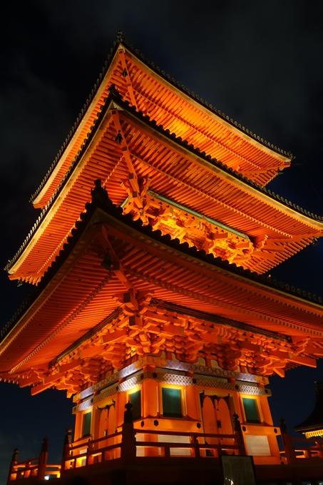 京都紅葉速報2018 その24 清水寺_ライトアップ No13