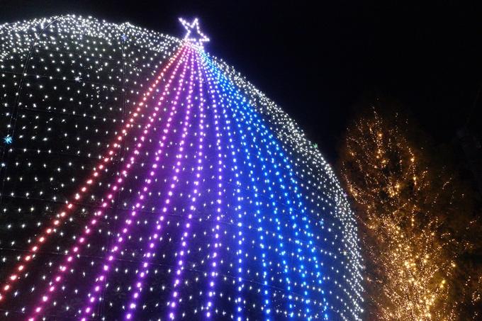 京都のライトアップ2018 ロームクリスマスイルミネーション No24