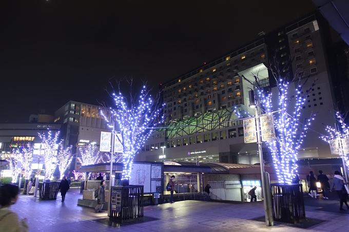 京都のライトアップ2018 京都駅ビル No2